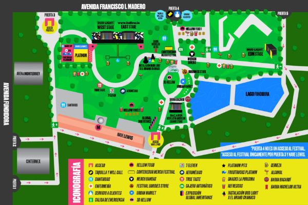 Mapa Bud Light Hellow Festival 2017